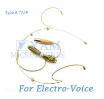 YAM Beige HM3-C4AV Headset Microphone For Electro-Voice Wireless Microphone