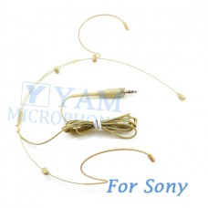 YAM Beige HM3-C4W Headset Microphone For SONY Wireless Mirophones