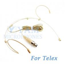 YAM Beige HM3-C4TE Headset Microphone For Telex Wireless Microphone