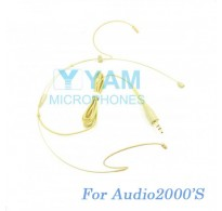 YAM Beige HM1-C4AU Headset Microphone For Audio2000S Wireless Microphone