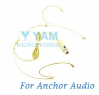 YAM Beige HM1-C4AO Headset Microphone For Anchor Audio Wireless Microphone