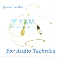 YAM Beige HM1-C4AT Headset Microphone For Audio Technica Wireless Microphone