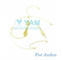 YAM Beige HM1-C4AZ Headset Microphone For Azden Wireless Microphone