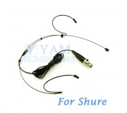 YAM Black HM1-C4S Headset Microphone For SHURE Wireless Microphone