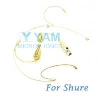 YAM Beige HM1-C4S Headset Microphone For SHURE Wireless Microphone