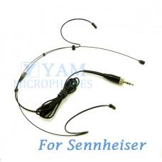 YAM Black HM1-C4SE Headset Microphone For Sennheiser Wireless Microphone