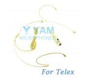 YAM Beige HM1-C4TE Headset Microphone For Telex Wireless Microphone