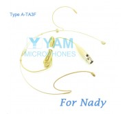 YAM Beige HM1-C4Z Headset Microphone For Nady Wireless Microphone