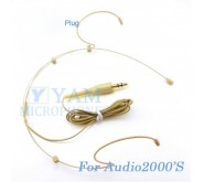 YAM Beige HM3-C4AU Headset Microphone For Audio2000S Wireless Microphone