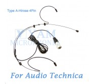 YAM Black HM3-C4AT Headset Microphone For Audio Technica Wireless Microphone