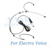 YAM Black HM3-C4AV Headset Microphone For Electro-Voice Wireless Microphone