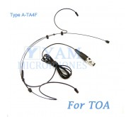 YAM Black HM3-C4O Headset Microphone For TOA Wireless Microphone