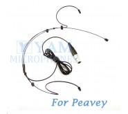YAM Black HM3-C4Q Headset Microphone For Peavey Wireless Mirophone