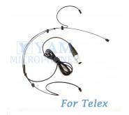 YAM Black HM3-C4TE Headset Microphone For Telex Wireless Microphone