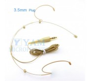 YAM Beige HM3-C4UT Headset Microphone With 3.5mm Plug For Wireless Audio System PC Recorder