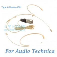 YAM Beige HM5-C4AT Headset Microphone For Audio Technica Wireless Microphone