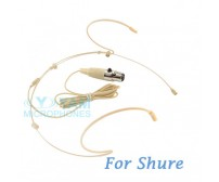YAM Beige HM5-C4S Headset Microphone For SHURE Wireless Microphone