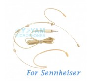 YAM Beige HM5-C4SE Headset Microphone For Sennheiser Wireless Microphone