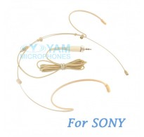 YAM Beige HM5-C4W Headset Microphone For  SONY Wireless Mirophones
