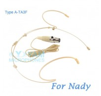 YAM Beige HM5-C4Z Headset Microphone For Nady Wireless Microphone