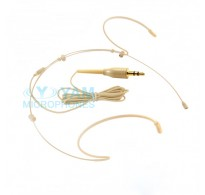 YAM Beige HM5-C4UT Headset Microphone With 3.5mm Plug For Wireless Audio System PC Recorder