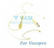 YAM Beige HM8-C3P Headset Microphone For Vocopro Wireless Microphone