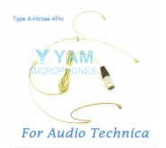 YAM Beige HM8-C4AT Headset Microphone For Audio Technica Wireless Microphone
