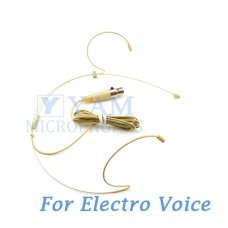 YAM Beige HM8-C4AV Headset Microphone For Electro-Voice Wireless Microphone