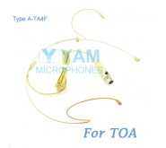 YAM Beige HM8-C4O Headset Microphone For TOA Wireless Microphone