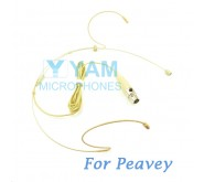YAM Beige HM8-C4Q Headset Microphone For Peavey Wireless Mirophone