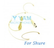 YAM Beige HM8-C4S Headset Microphone For SHURE Wireless Microphone