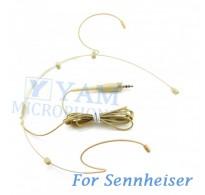 YAM Beige HM3-C4SE Headset Microphone For Sennheiser Wireless Microphone