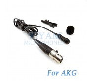 YAM Black LM1-C3A Lavalier Microphone For AKG Wireless Microphone