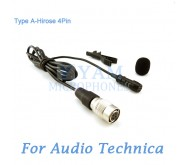 YAM Black LM1-C4AT Lavalier Microphone For Audio Technica Wireless Microphone