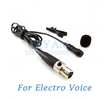 YAM Black LM1-C4AV Lavalier Microphone For Electro-Voice Wireless Microphone