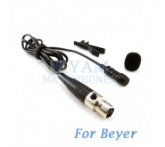YAM Black LM1-C4BE Lavalier Microphone For Beyer Wireless Microphone