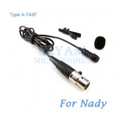YAM Black LM1-C4Z Lavalier Microphone For Nady Wireless Microphone
