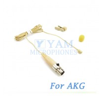 YAM Beige LM2-C3A Lavalier Microphone For AKG Wireless Microphone