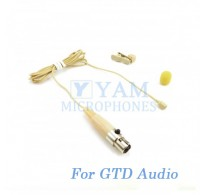 YAM Beige LM2-C3D Lavalier Microphone For GTD Audio Wireless Microphone