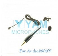 YAM Black LM2-C4AU Lavalier Microphone For Audio2000S Wireless Microphone