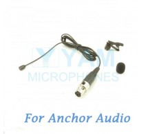 YAM Black LM2-C4AO Lavalier Microphone For Anchor Audio Wireless Microphone