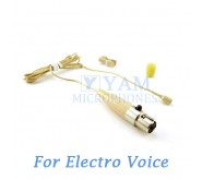 YAM Beige LM2-C4AV Lavalier Microphone For Electro-Voice Wireless Microphone