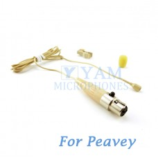 YAM Beige LM2-C4Q Lavalier Microphone For Peavey Wireless Mirophone