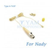 YAM Beige LM2-C4Z Lavalier Microphone For Nady Wireless Microphone