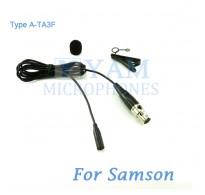 YAM Black LM3-C3N Lavalier Microphone For SAMSON Wireless Microphone
