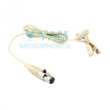 YAM Beige LM3-C4M Lavalier Microphone For Mipro Wireless Mirophone