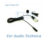 YAM Black LM3-C4AT Lavalier Microphone For Audio Technica Wireless Microphone
