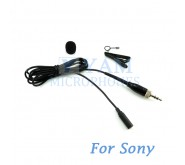 YAM Black LM3-C4W Lavalier Microphone For  SONY Wireless Mirophones