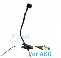YAM Black Y608-C3A Instrument Microphone For AKG Wireless Microphone