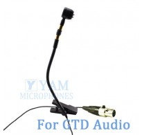 YAM Black Y608-C3D Instrument Microphone For GTD Audio Wireless Microphone